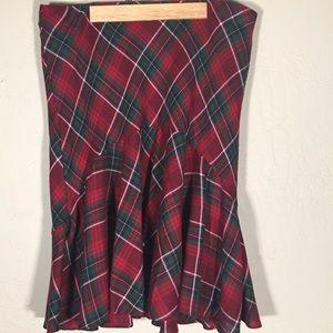 Chaps skirt highland sz. 14 red/green